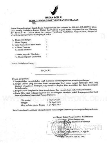 Jasa Pengurusan Ijin Edar BPOM (11104921) di Kota Surabaya