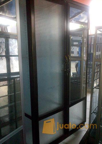 Lemari Pakaian Aluminium Frame Coklat Kaca Es 2 Pintu Kab Sidoarjo Jualo
