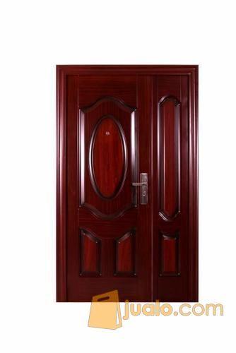 Pintu Besi Minimalis Modern Pintu Besi Minimalis 2017 Pintu Besi Motif Kayu Kab Tangerang Jualo