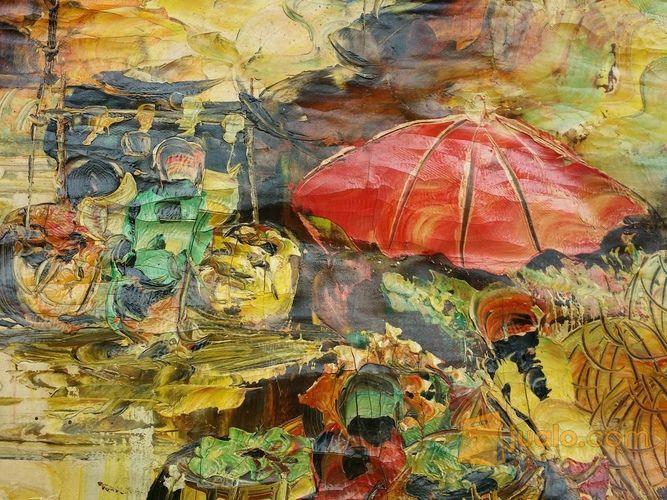 Lukisan Motip Pasar (11442941) di Kota Jakarta Barat
