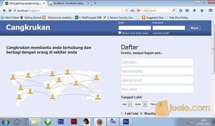 Script Jejaring Sosial Mirip Facebook Themes Jcow Premium (11464115) di Kota Surabaya