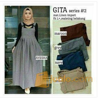 Gita Overall Fashion Hijab Muslimah Gamis Kulot Atasan ...