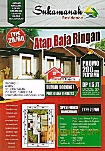 Rumah Sukamanah Residence Di Cikarang,Bekasi