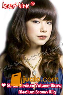 Medium Curly 50cm Volume Wavy Medium Brown Wig (1176049) di Kota Bekasi