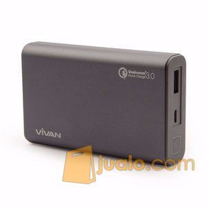 Vivan Powerbank Q10 Quick Charge 3.0 10200mAh - GREY (12294815) di Kab. Bantul