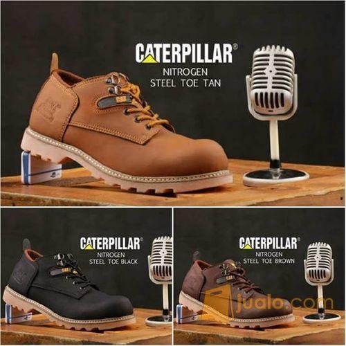 Sepatu catterpiar nit mode gaya pria 12355037