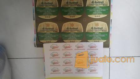 Cetak Sticker Produk Full Color Ukuran Bebas Stengah Putus (12358235) di Kota Surabaya