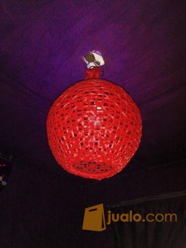 Lampion anyaman murah kebutuhan rumah tangga dekorasi rumah 12400231