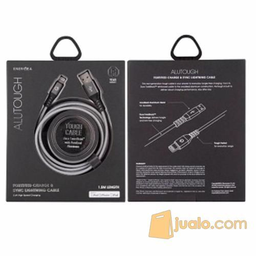 Energea Alutough Usb Cable Lightning 1,5m 2.4A High Speed Charging For Apple Iphone - BLACK (12796005) di Kab. Bantul