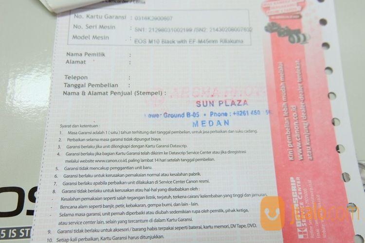 Mirrorless Canon EOS M10 Kit 15-45mm (12887131) di Kota Jakarta Selatan