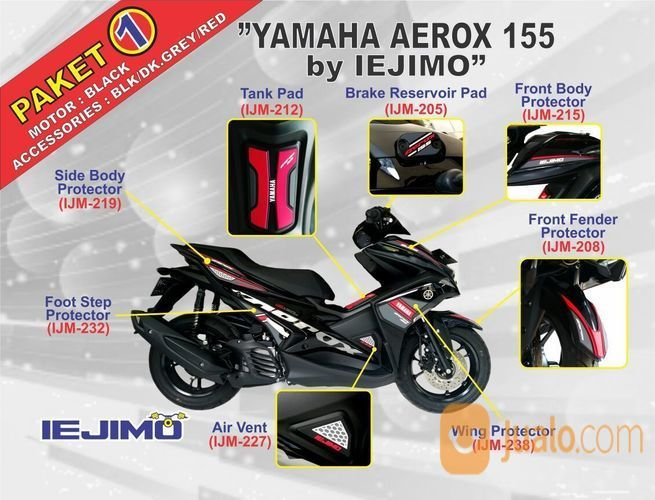 Paket Full Body Protector Yamaha Aerox 155 Tangerang Jualo