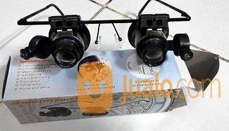 Kacamata Kaca Pembesar Loupe 20x (Ada Led)