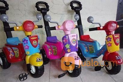 Mainan Sepeda Vespa Dorong Ride On Surabaya Jualo