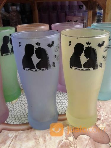 Souvenir Gelas Jus Wedding Mix Warna