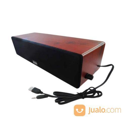 Vivan VS260 Wooden Wall-Hanging Multimedia Speaker Kabel - BROWN (13413949) di Kab. Bantul