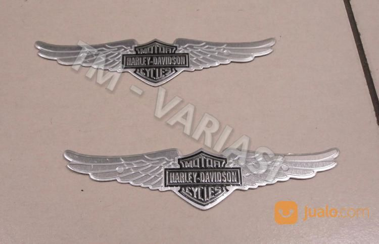 Emblem Logo Harley Davidson Model Sayap Silver Ukuran Sedang Jakarta Pusat Jualo