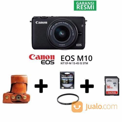 Mirrorless Canon EOS M10 Kit EF-M 15-45mm [Paket] (13602113) di Kota Surabaya