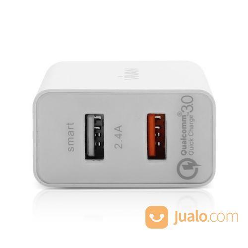 Vivan DQ01 QC3.0 Quick Charge 2.4A Output Charger - WHITE (13833253) di Kab. Bantul