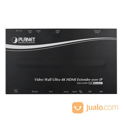PLANET IHD-410PR Video Wall Ultra 4K HDMI Receiver Over IP With PoE (13926351) di Kota Jakarta Pusat
