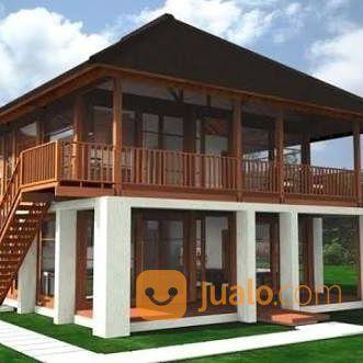 buat rumah kayu minimalis kayu jati kayu trembesi