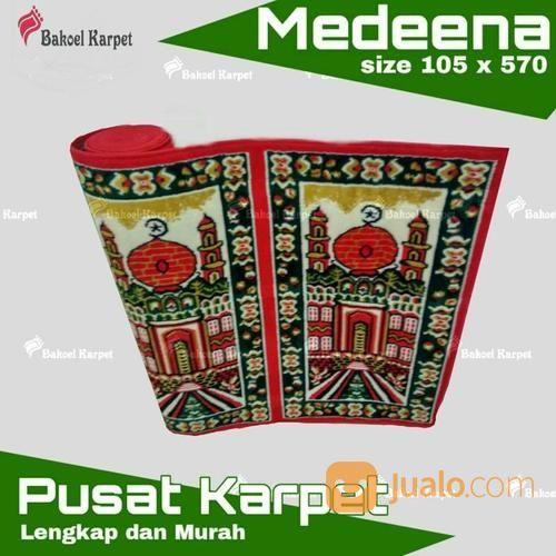 Karpet Sajadah Medeena Merah Petak Gambar Masjid Terlaris (14009041) di Kota Surabaya