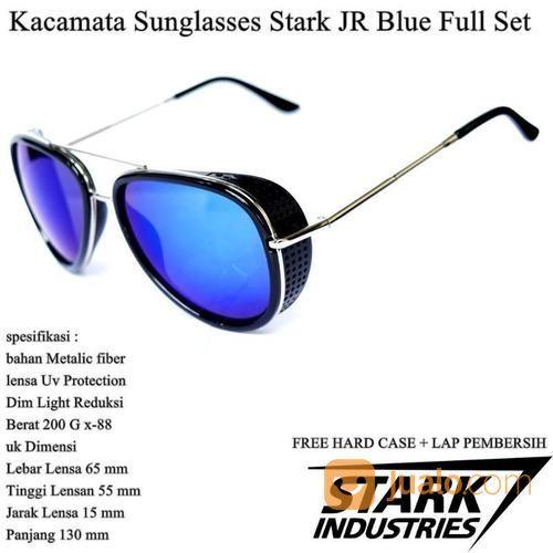 Kacamata Pria Sunglasses Stark Full Set Blue (14102173) di Kota Jakarta Timur