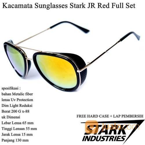Kacamata Pria Sunglasses Stark Full Set Red (14102193) di Kota Jakarta Timur