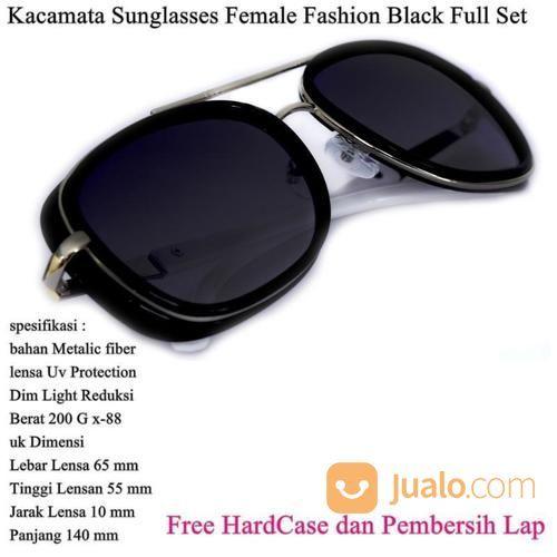 Kacamata Wanita Sunglasses Female Fashion Full Set Black (14109869) di Kota Jakarta Timur