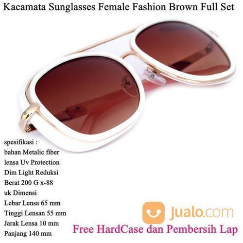 Kacamata Wanita Sunglasses Female Fashion Full Set Brown (14109901) di Kota Jakarta Timur