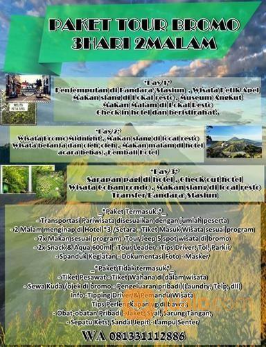 Paket Tour Wisata Termurah Di Malang (14110051) di Kab. Malang