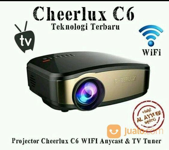 Proyektor Mini Cheerlux C6 Wifi Buldin Tv Siap Nobar Area Sby Dan Sda Bisa Cod (14148851) di Kota Surabaya