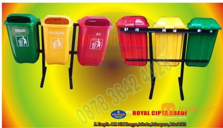 Tempat Sampah Pilah 3 Oval Bbahan Fiber (14183953) di Kota Bekasi