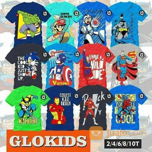Atasan Kaos Anak Laki-Laki Glokids Size 2-10thn (14193575) di Kota Surakarta