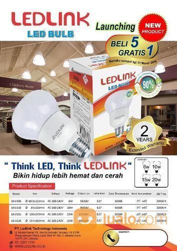 Promo LED Bulb 6 Watt (14451925) di Kota Jakarta Utara