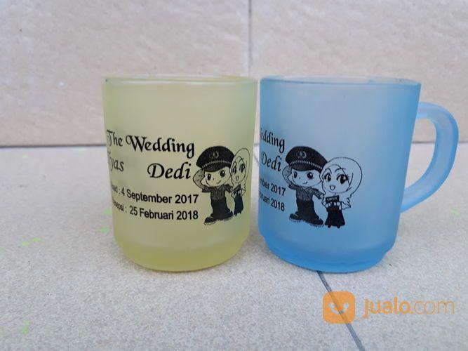 Souvenir Gelas Wedding Frosting Warna (14585515) di Kota Semarang