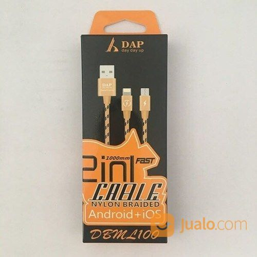 KABEL DATA DAP MICRO & IPHONE 1 METER DBML 100 (14600755) di Kab. Pasuruan