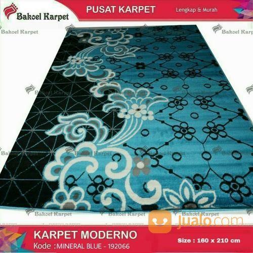 Karpet Moderno Mineral Blue Terlaris Motif Bunga Klasik (14608477) di Kota Surabaya