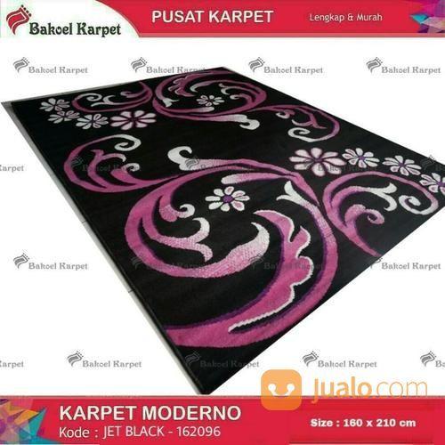 Karpet Moderno Jet Black Bunga Minimalis Terlaris (14618333) di Kota Surabaya