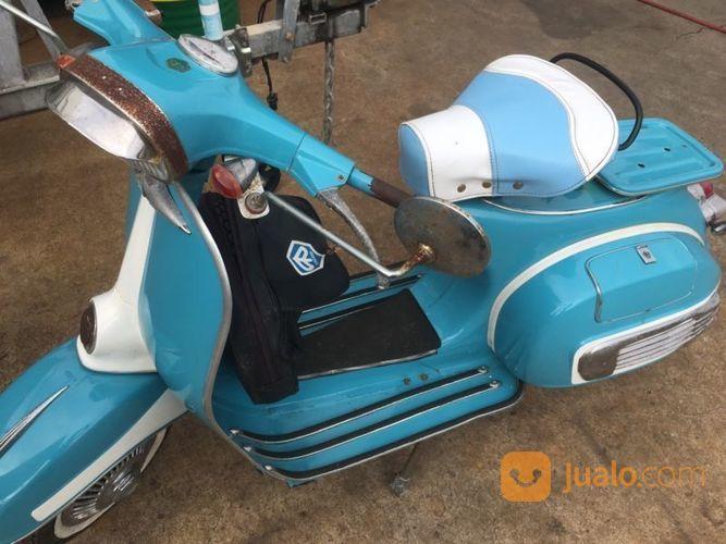 Vespa Super 75 Biru Orisinil Siap Pake (14633301) di Kota Semarang