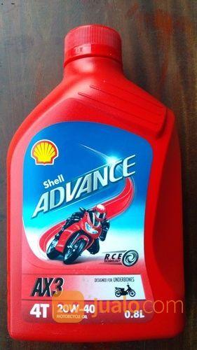Oli Shell AX3 SAE 20W40 Kemasan 0,8 Liter (14672471) di Kota Semarang