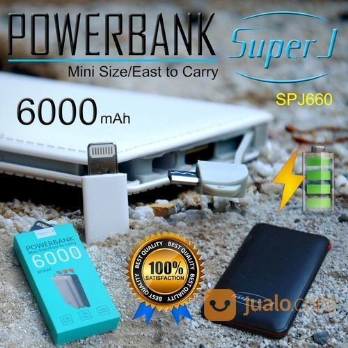 POWERBANK SUPER J 6.000MAH (14693621) di Kab. Pasuruan