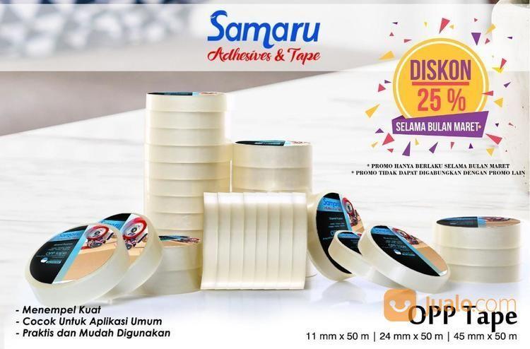 SAMARU TAPE - OPP TAPE 43 Mic - LAKBAN 45 Mm X 50 M-Transparent/Clear (14708327) di Kota Jakarta Timur