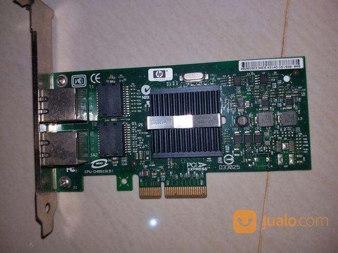 LAN CARD HP NC360T PCI Express Dual Port Gigabit Server Adapter (14744291) di Kota Depok