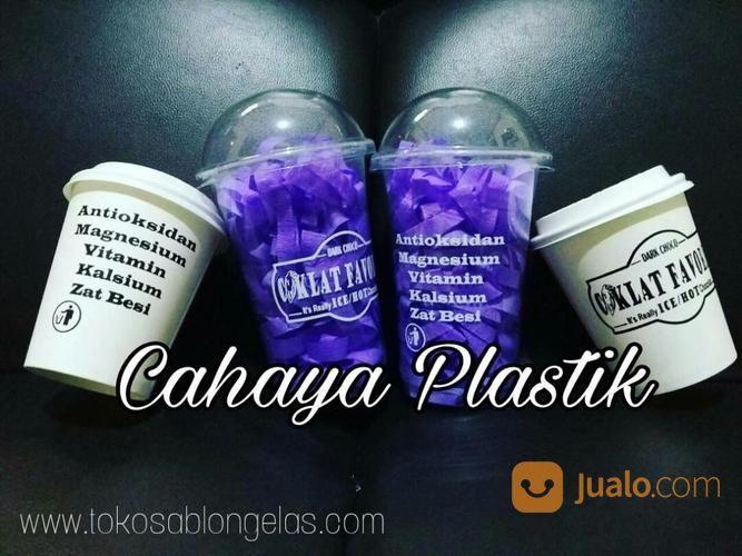 Sablon Cup Plastik 16 Oz Dan Paper Cup (14784333) di Kota Malang