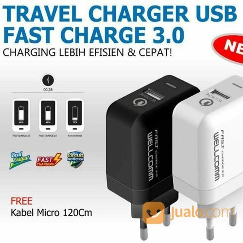 TRAVEL CHARGER WELLCOMM 3.0 FAST (14788171) di Kab. Pasuruan