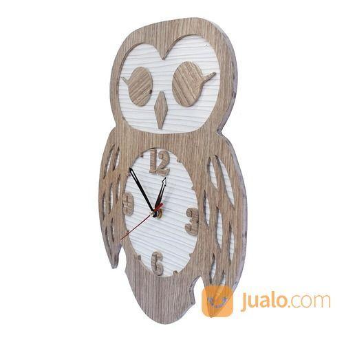 Jam Dinding Karakter Cym Model Owl Brown