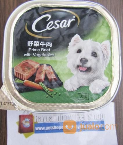 Cesar Prime Beef With Vegetables Dog Food Makanan Anjing
