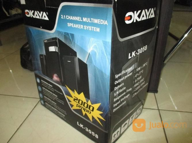 Okaya Speaker 2.1 Channel Multimedia Speaker System Lk-3058 (14848717) di Kab. Bandung