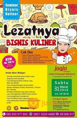 Seminar Dan Workshop Bisnis Kuliner Bersama Cak Eko (14868825) di Kota Yogyakarta