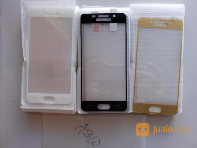 TEMPERED GLASS SAMSUNG A3 2016 A310 COLOR FULL COVER (15020785) di Kab. Garut